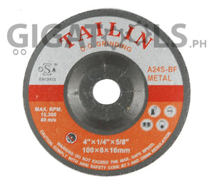 "Tailin 4"" Grinding Disc, for steel - GIGATOOLS.PH"