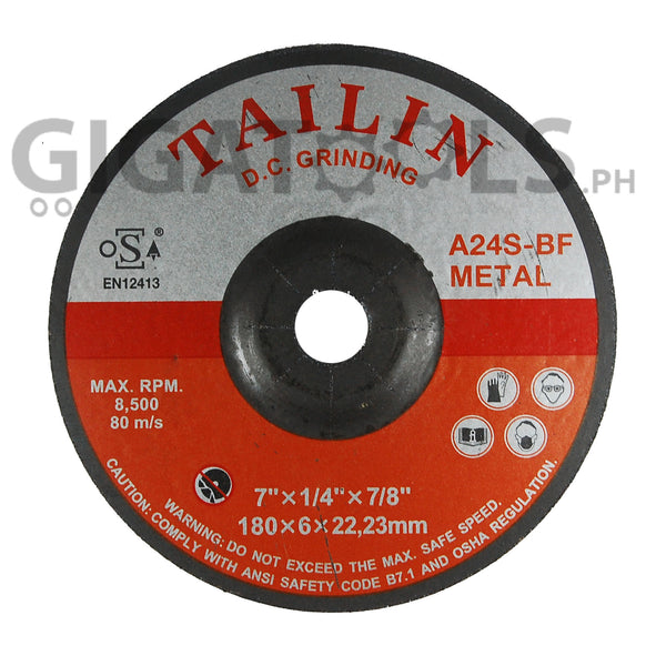Tailin 7 Quot Grinding Disc For Steel Gigatools Ph