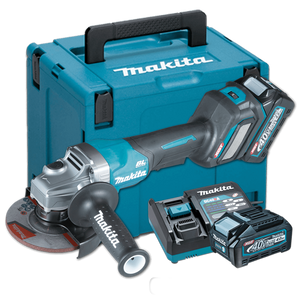 Makita GA030GM201 Cordless Brushless Angle Grinder with Paddle Switch 100mm (4″) 40Vmax XGT™ Li-ion (Kit Set)