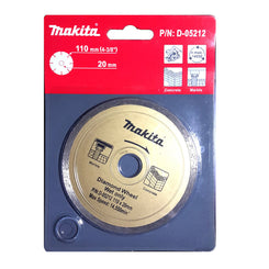 Makita 110x20mm Diamond Wheel (Wet Only)