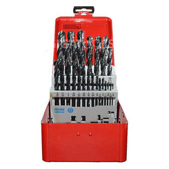 "Dormer 1/16"" to 1/2"" A190 29pcs High Speed Steel Drill Set in Metal Case"