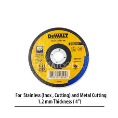 DeWalt DWA8060 4-inch Cutting Disc for Inox / Metal Cutting