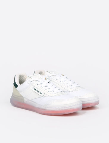 Reebok Club C Legacy - White/Twisted Coral/Forest Green