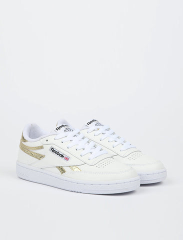 Reebok Club C Revenge - White/Gold Metallic/White