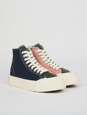 Good News Palm - Navy/Green/Pink