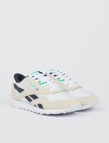 Reebok Classic Nylon - White/Vector Navy/Court Green