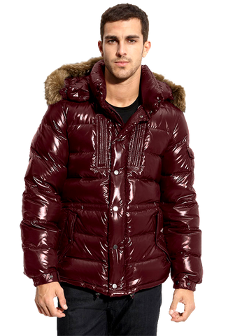 Moncler 'Rod' Quilted Down Parka with Genuine Coyote Fur Trim