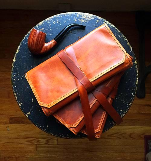The Standard Pipe Pouch ~ Limited Run! - Oil Tanned Antique Amber Leather - Only 1 Left in Stock!