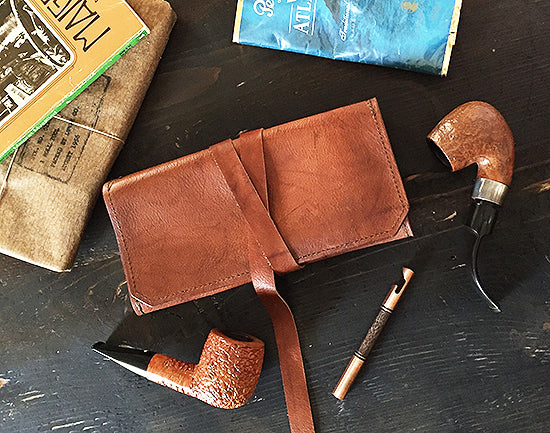 The Standard Pipe Pouch ~ New! Antique Tobacco Leaf Leather