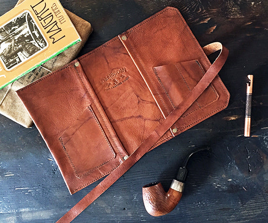 The Standard Pipe Pouch ~ New! Antique Tobacco Leaf Leather - Sold Out!