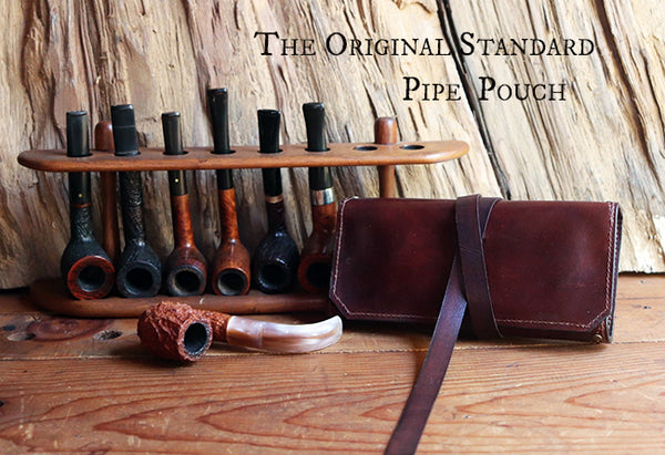 The Original Standard Pipe Pouch ~ Hand Dyed Brown Leather - Out of Stock