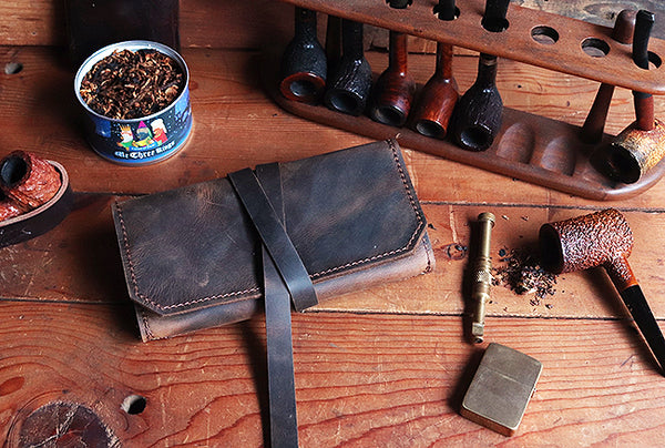 The Standard Pipe Pouch ~ Crazy Horse Brown Leather - Out of Stock!