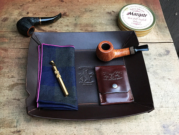 EDC / Tobacco Tray - Brown Latigo Leather