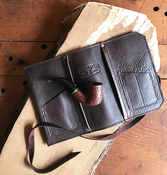 The Standard Pipe & Tobacco Pouch ~ Espresso Brown Leather - Sold Out!