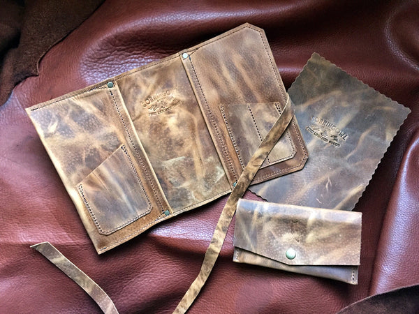 The Standard Pipe Pouch ~ Palomino Pull Up Leather - Out of Stock!