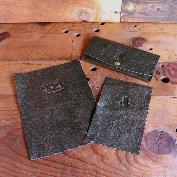The Workhorse Tobacco Pouch - Vintage Brown Bison - SORRINGOWL & SONS ~ Est. 2011