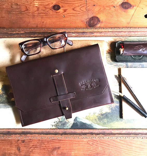 The Atlas Case - Leather & Waxed Canvas iPad / Sketchbook / EDC / Tool Case - SORRINGOWL & SONS ~ Est. 2011