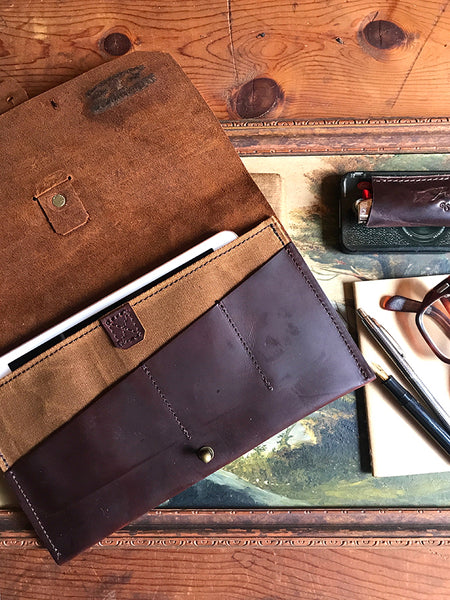 leather iPad case leather iPad pouch leather iPad bag horween leather iPad case