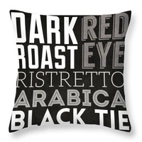 Bw Coffee Type II Throw Pillow