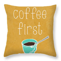 Coffee Or Wine I Throw Pillow