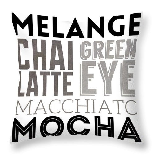 Bw Coffee Type Iv Throw Pillow
