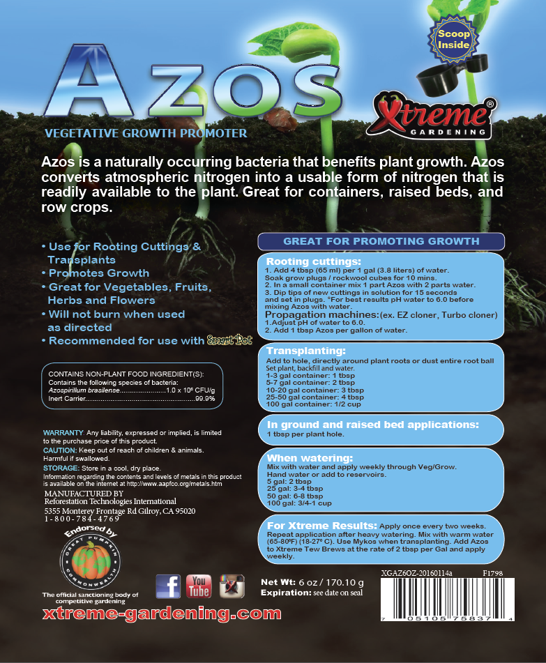 Nitrogen Fixing Bacteria Azos 12 Ounce Wallace Organic Wonder