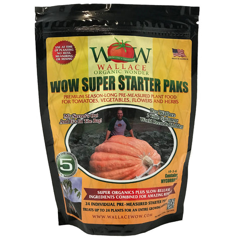 Super Starter Paks - Season-Long Fertilizer Wallace Organic Wonder