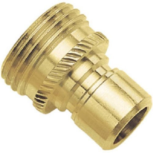 (12) Ea Green Thumb 09QCMGT Solid Brass Male Garden Hose Quick Connects
