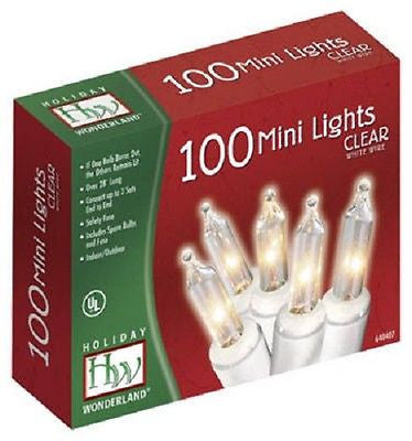 12 holiday wonderland 48600 88 100 count clear christmas light sets w white cord