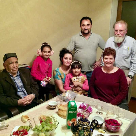 Bakhriddin Isamutdinov & Family with Rikki & Jim in Tajikistan-October 2015
