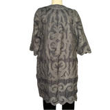 Kyrgyz Grey Felted Silk Jacket-Long