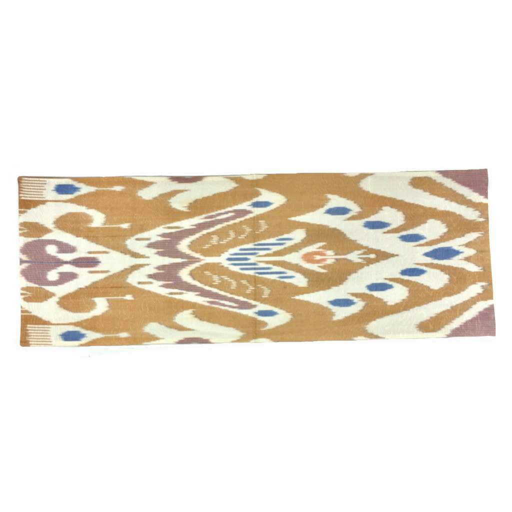 "Anor (Pomegranate) Ikat Table Runner-14"" X 36"""