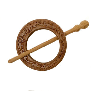 Hand Carved Ornamental Wooden Barrettes Hair Stick - Fair Trade (4 Styles) - HoonArts - 4