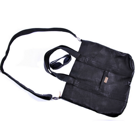 Yak Leather Totebag-Black- Fair Trade