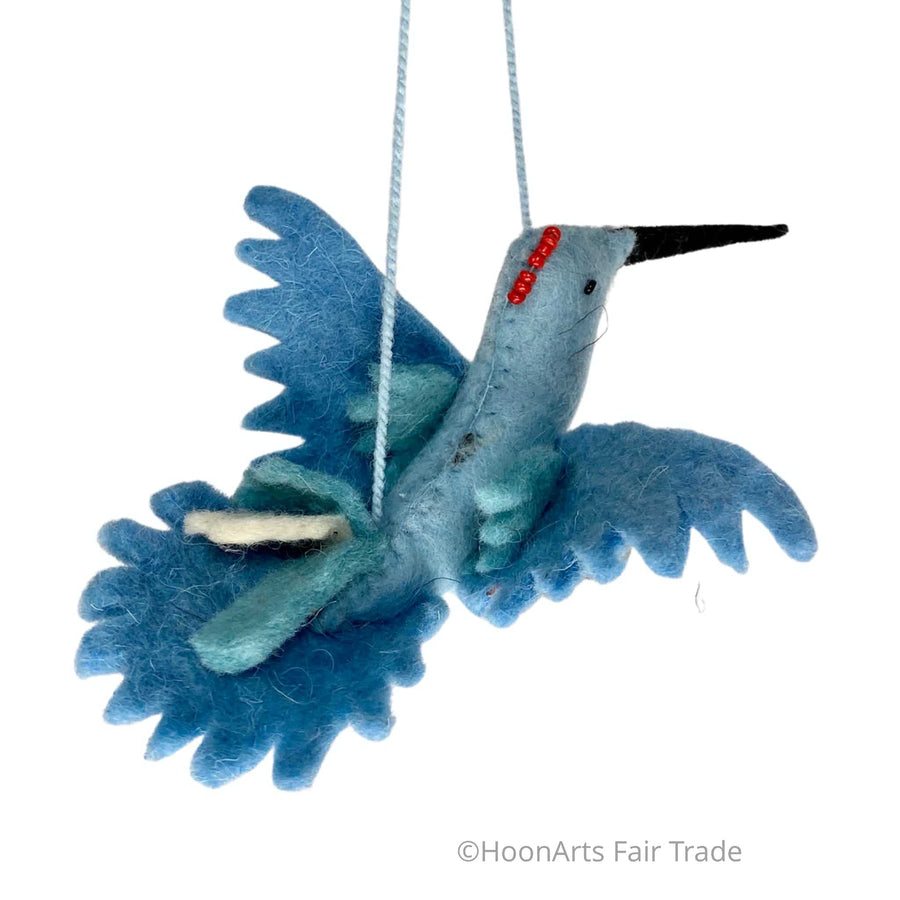 Handmade Kyrgyz Felted Hummingbird Ornament