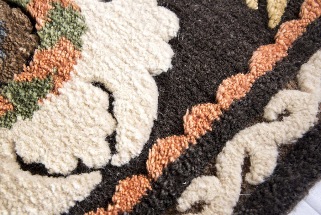 Nice Hand Knotted Mohair Area Rug Vegetable Dyes Cream Black Yellow   HoonArts    5 Great Ideas