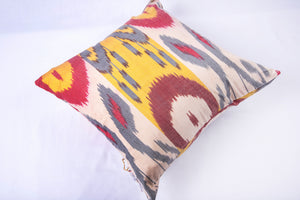 "Ikat & Suzani Pillow Cover, ""Qalanfur"" (Pepper) - HoonArts - 3"