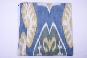 "Ikat and Suzani Embroidery Pillow Cover, ""Chorkona"" (Four Rooms) - HoonArts - 4"