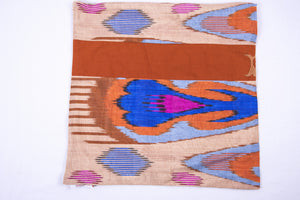"Ikat and Suzani Embroidery Pillow Cover, ""Panjakenti"" - HoonArts - 2"