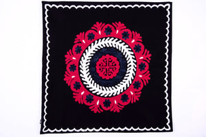 "Hand Embroidered Suzani Pillow Cover ""Ambassador"" - HoonArts - 1"