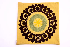 Hand-Embroidered Suzani Pillow Cover - HoonArts - 1