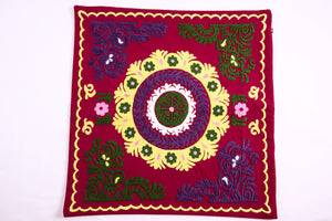 Hand Embroidered Suzani Pillow Cover - Kulob - HoonArts - 1