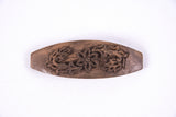 Hand Carved Ornamental Wooden Barrettes, Clip-Walnut & Apricot - Fair Trade - HoonArts - 6