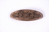 Hand Carved Ornamental Wooden Barrettes, Clip-Walnut & Apricot - Fair Trade - HoonArts - 4