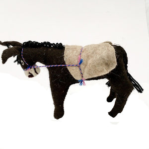 Felt Donkey - Stuffed Animal - Fair Trade - HoonArts - 9