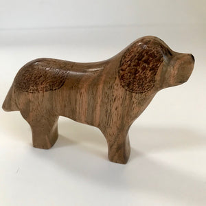 Hand Carved Miniature Dog