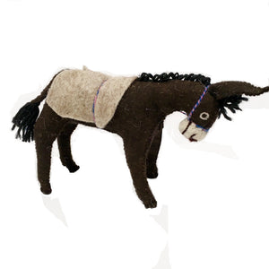 Felt Donkey - Stuffed Animal - Fair Trade - HoonArts - 10