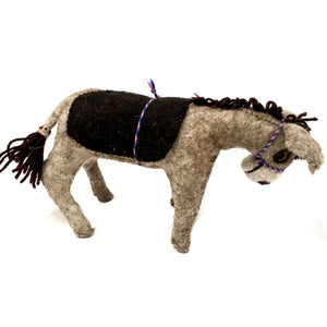Felt Donkey - Stuffed Animal - Fair Trade - HoonArts - 6