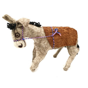 Felt Donkey - Stuffed Animal - Fair Trade - HoonArts - 7