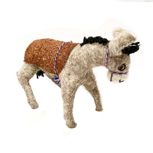 Felt Donkey - Stuffed Animal - Fair Trade - HoonArts - 8